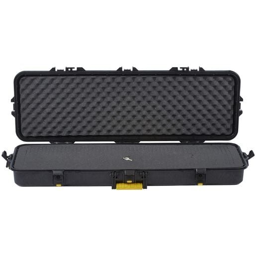AW Rifle Case 42? Black with Yellow Latches and Handle STD för camping & uteliv.