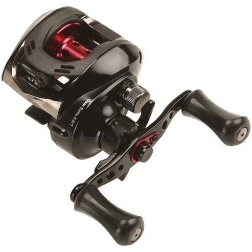 Okuma Ceymar LP C-266WLX 6+1bb Left Hand BLACK/RED för camping & uteliv.