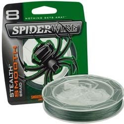 Spiderwire Stealth Smooth 150m Moss Green för camping & uteliv.