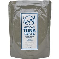 Outmeals Mexican tuna pasta för camping & uteliv.